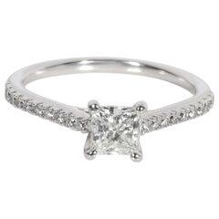 Ritani Diamond Engagement Ring in Palladium GIA Certified H SI1 0.94 Carat