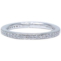 Ritani Eternity Diamond Wedding Band Ring Micro Pave Set in Platinum