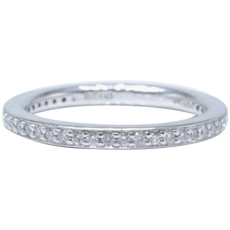 6ae564ff276b65 Ritani Eternity Diamond Wedding Band Ring Micro Pave Set in Platinum For  Sale
