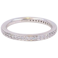 Ritani MicroPave Diamond Eternity Wedding Band in Platinum