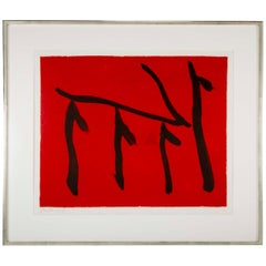 """Rite of Passage II"" Lithograph by Robert Motherwell"