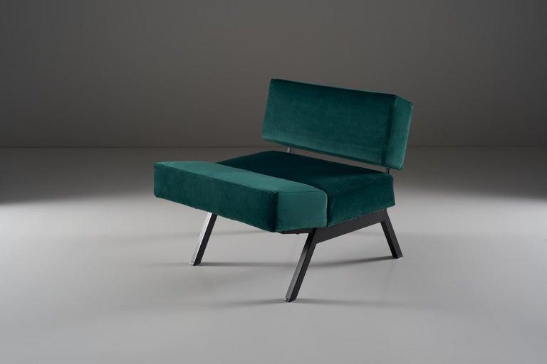 Mid-Century Modern Rito Valla for IPE Bologna Set of Three Armchairs Italian Design, 1960s For Sale