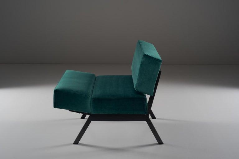 Lacquered Rito Valla for IPE Bologna Set of Three Armchairs Italian Design, 1960s For Sale