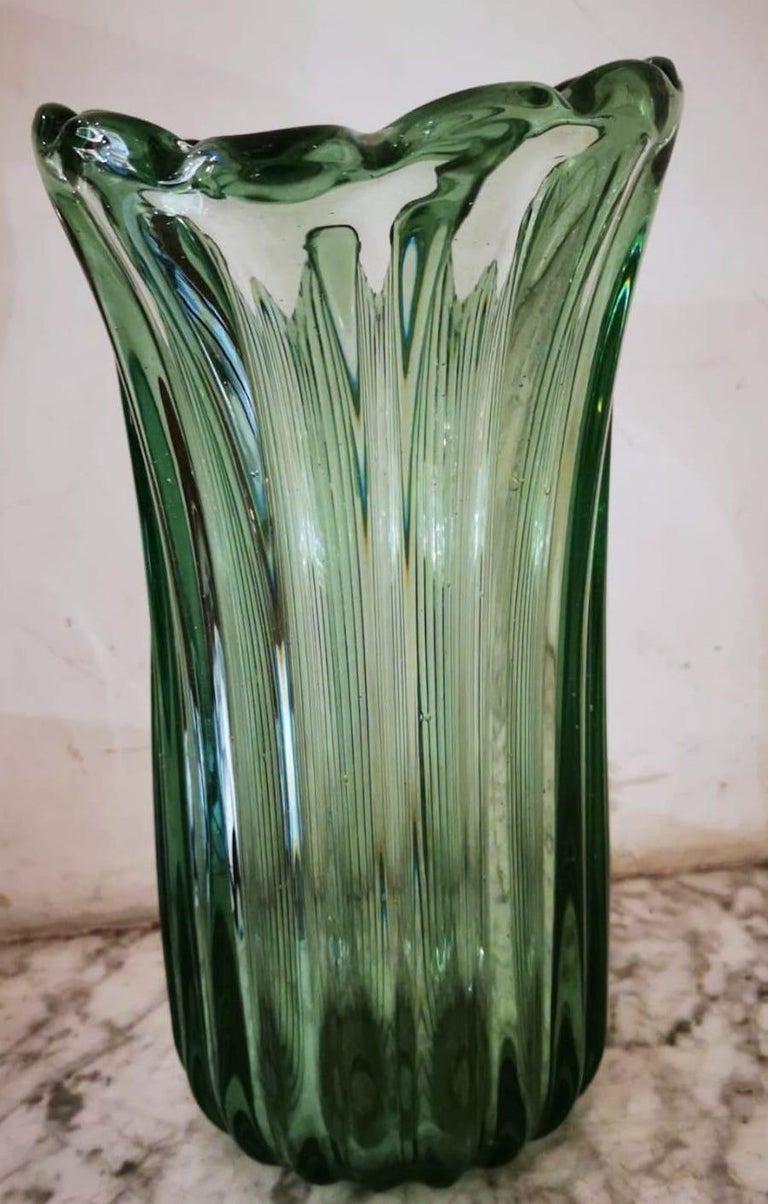 Ritorto A Coste Vase, by Archimede Seguso, Murano, 1950s 6