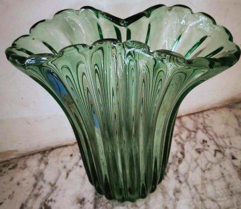 20th Century Ritorto A Coste Vase, by Archimede Seguso, Murano, 1950s