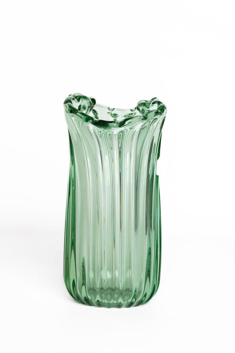Italian Ritorto A Coste Vase, by Archimede Seguso, Murano, 1950s