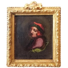 Portrait of Dante Thumbnail, Italian Painting Late 18th Century Oil Poet Writer