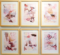 Ocean Deep - Framed 6 Panel Delicately Beautiful Painting of Indian Culture