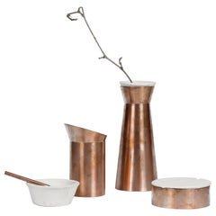 Rituali, Contemporary Storage Vessels or Sculptures in Marble and Copper