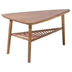 Riva Contemporary Coffee Table in Brazilian Hardwood by Knót Artesanal