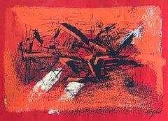 WPA Woman Artist Modernist Abstract Print