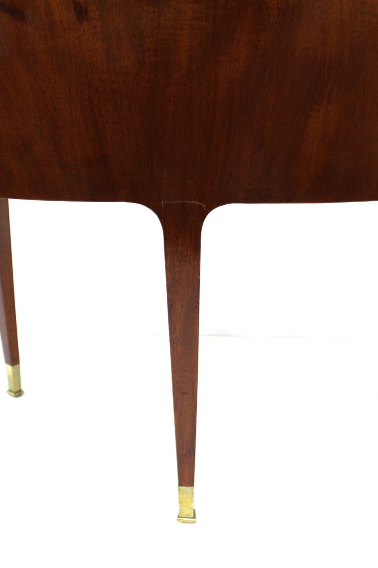 Riva Mobili D'Arte Italian Modernist Carved Wood Tripod Side or End-tables For Sale 8