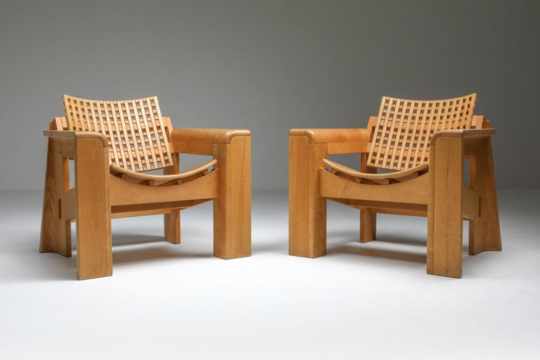 Late 20th Century Rivadossi Armchairs Italy, a Pair