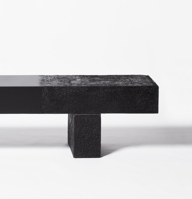 Modern Rive Bench Small by Draga&Aurel Cement and Bronze, 21st Century
