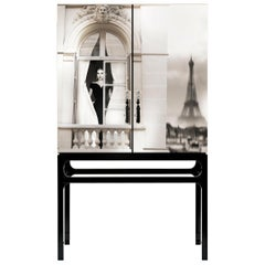 Rive Gauche Grace Kelly Cabinet with Artistic Intervention by Axel Crieger