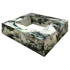 River, Multifunctional Glass Coffee Table /Console, Contemporary Art Design