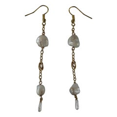 River Pearl Dangle Earrings