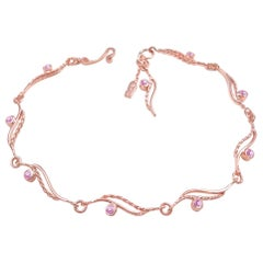 River-Rose-Twist-Flow Bracelet with Pink Sapphire 18 Karat
