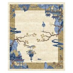Riverhouse Celeste Silky Weawing - Multicolor Nice Hand Knotted Wool Silk Rug