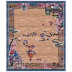 Riverhouse Spring Garden Hand-Knotted Wool and Silk 2.7 x 3.6m Rug