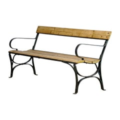 Riveted Iron Park Bench from the 1930s