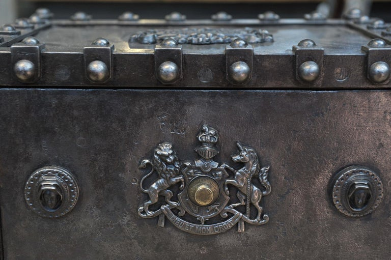 Riveted Iron Safe Box Cabinet by Bauche, France, circa 1900 5