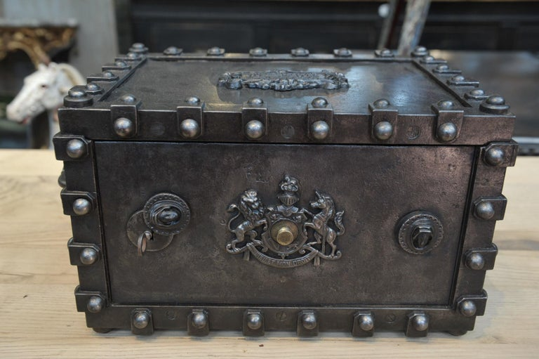 Riveted Iron Safe Box Cabinet by Bauche, France, circa 1900 9