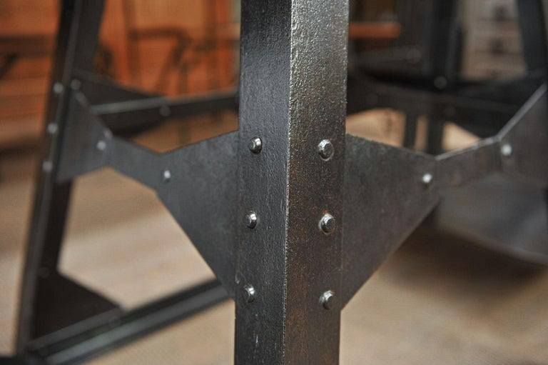 Riveted Polished Iron Commerce Large Scale by J.Bruyninckx & Fils Bruxelles For Sale 4