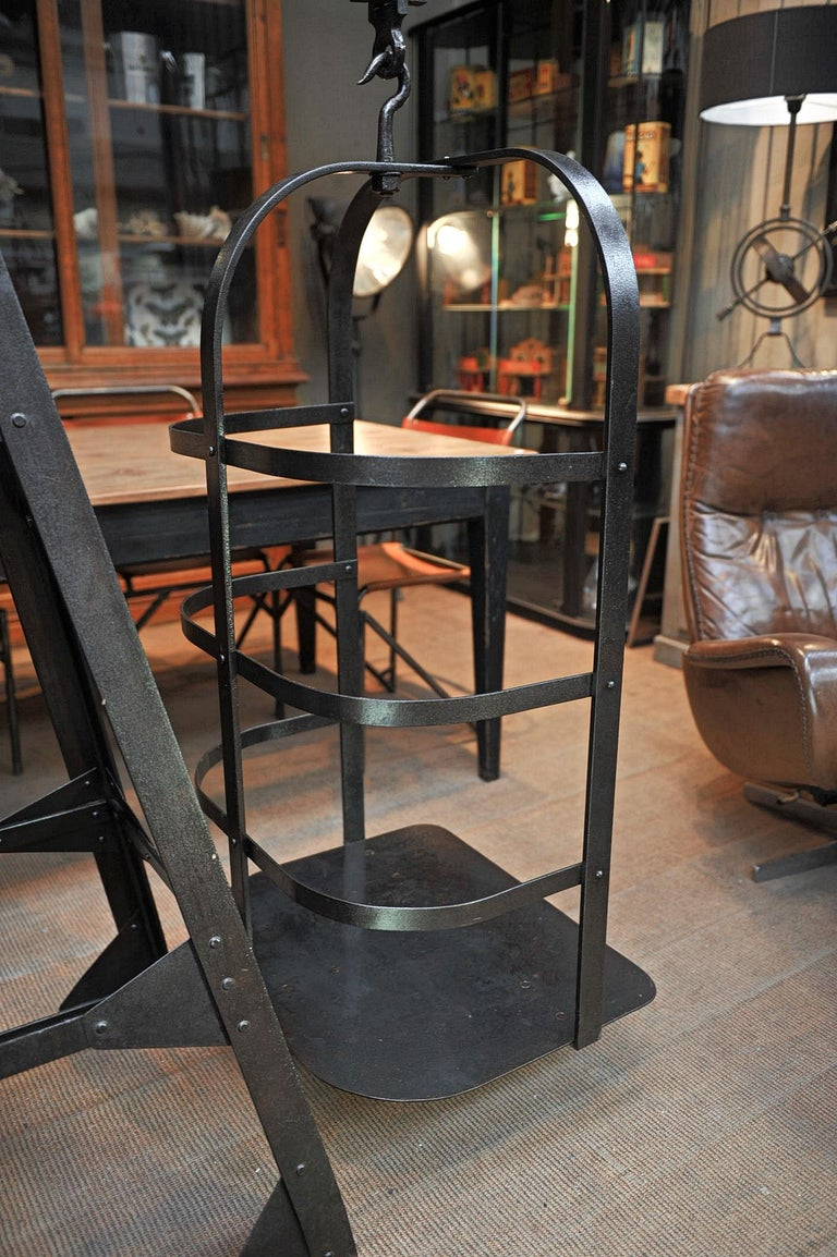 Riveted Polished Iron Commerce Large Scale by J.Bruyninckx & Fils Bruxelles For Sale 7