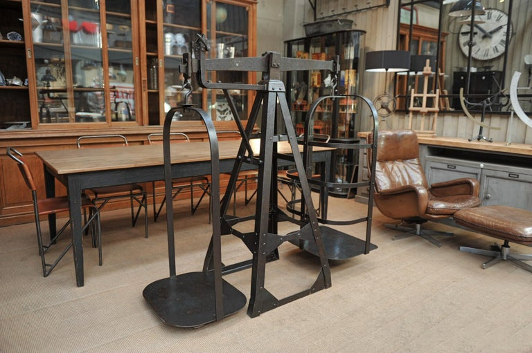 Riveted Polished Iron Commerce Large Scale by J.Bruyninckx & Fils Bruxelles For Sale 1