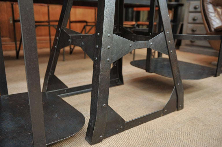 Riveted Polished Iron Commerce Large Scale by J.Bruyninckx & Fils Bruxelles For Sale 2