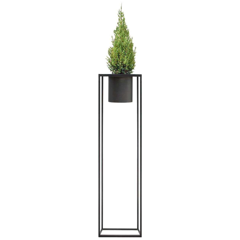 Riviera 1 Plant Burnished Iron Vase Designed by Aldo Cibic