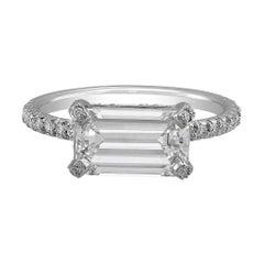 Riviera 2.01 Carat Emerald Cut Diamond Ring