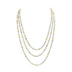 Riviera 26.98 Carat Multi-Color Diamond Necklace