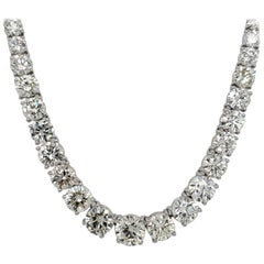 Riviera Diamond Necklace with 48.08 Carat Total
