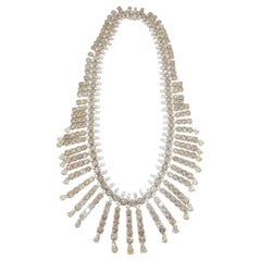 Riviera Style Certified 120 Carat Natural Fancy Color and White Diamond Necklace