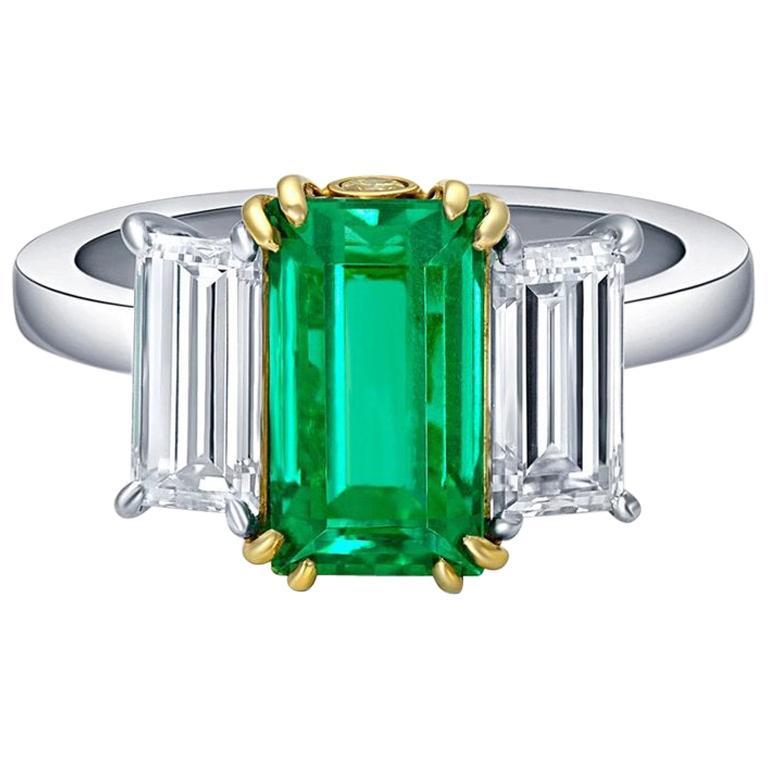 CJ Charles Rivière 2.22 Carat Colombian Emerald Ring AGL Certified