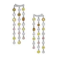 Rivieré Multicolor Diamond Earrings
