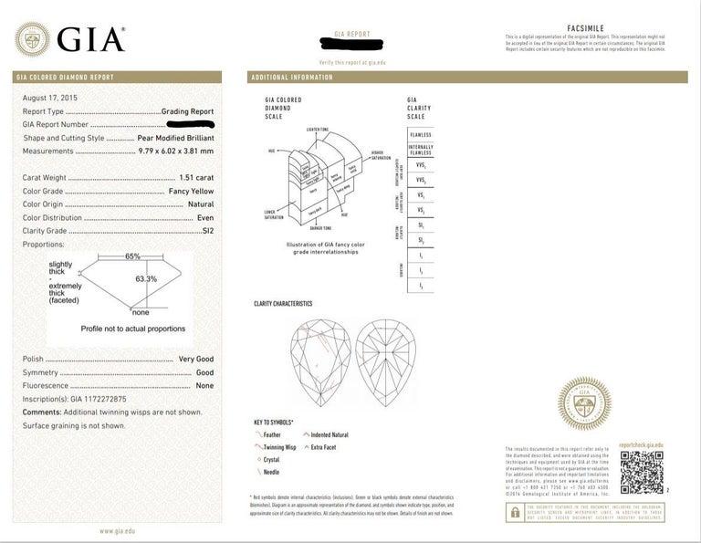 Women's CJ Charles Pear Shaped Fancy Light Pink & Fancy Yellow Earrings GIA Certified For Sale
