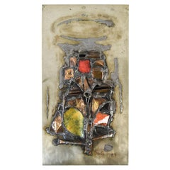 Rivka Eliav, Abstract Enameled Metal Work Relief Plaque