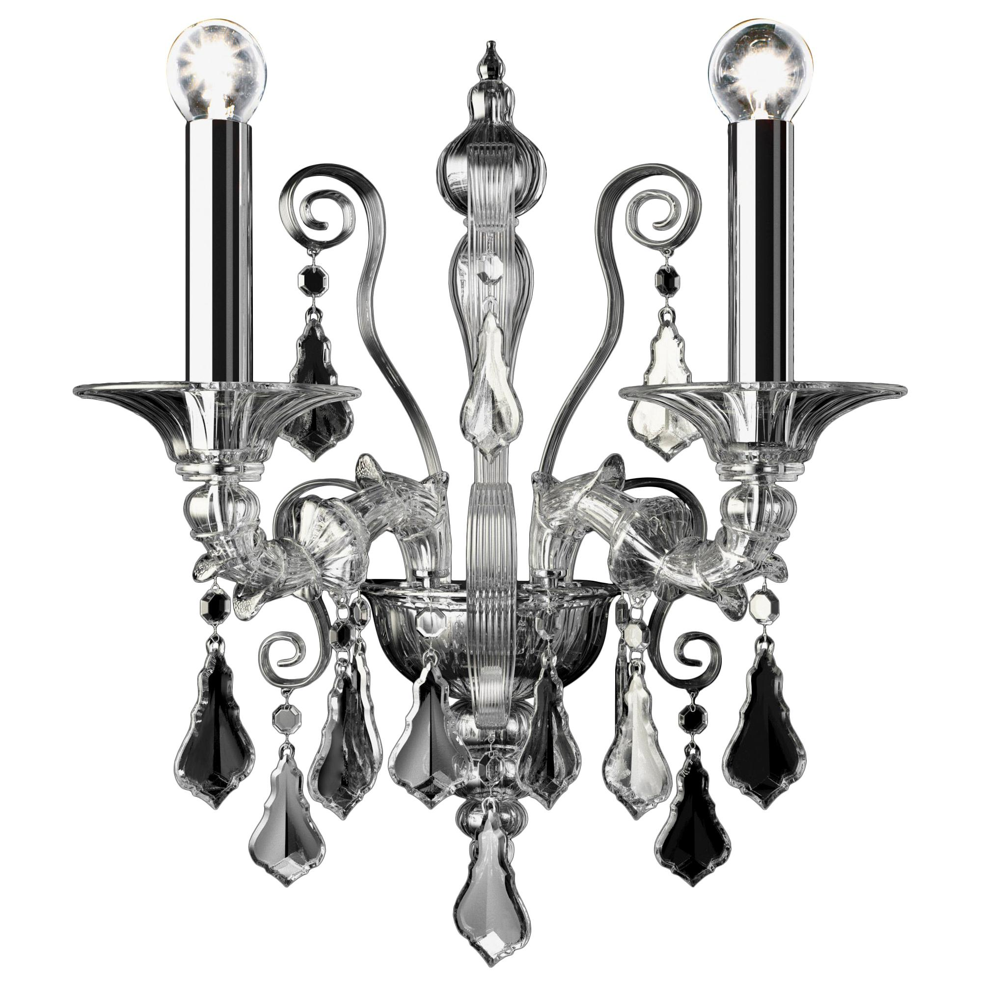 Riyadh 5349 02 Wall Sconce in Glass, by Barovier&Toso