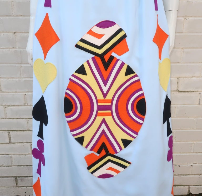 Rizkallah for Malcom Starr Attributed Playing Cards Maxi Skirt, C.1970 In Good Condition For Sale In Atlanta, GA