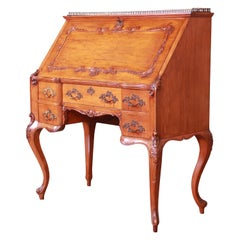 R.J. Horner & Co. Antique Louis XV Primavera Slant Front Desk, circa 1890
