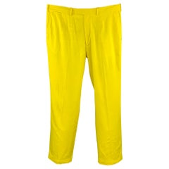 RLX by RALPH LAUREN Size 36 Yellow Polyester Zip Fly Casual Pants