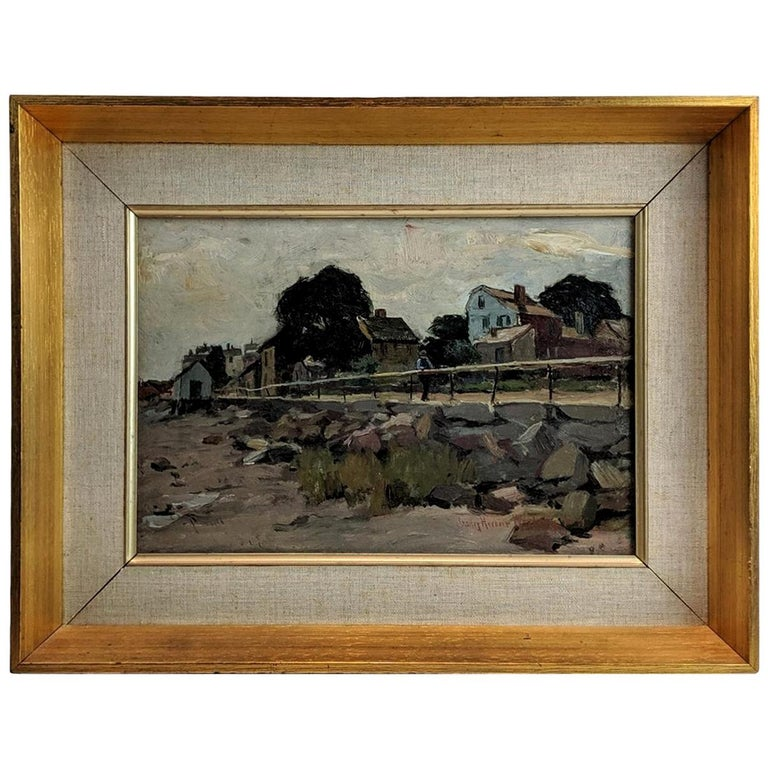 """Road by the Coast"" Painting by Charles Herbert Woodbury For Sale"
