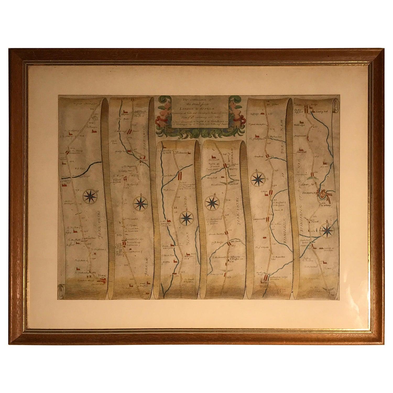 Road Map, John Ogilby, London, Barwick, York, Chester, Darlington, Durham