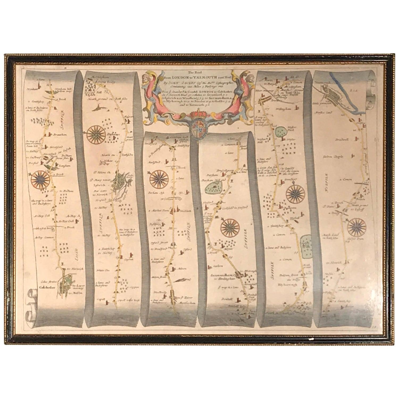 Road Map, John Ogilby, No 54, London, Yarmouth, Britannia