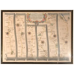 Road Map, John Ogilby, No 54, London, Yarmouth, Britannia