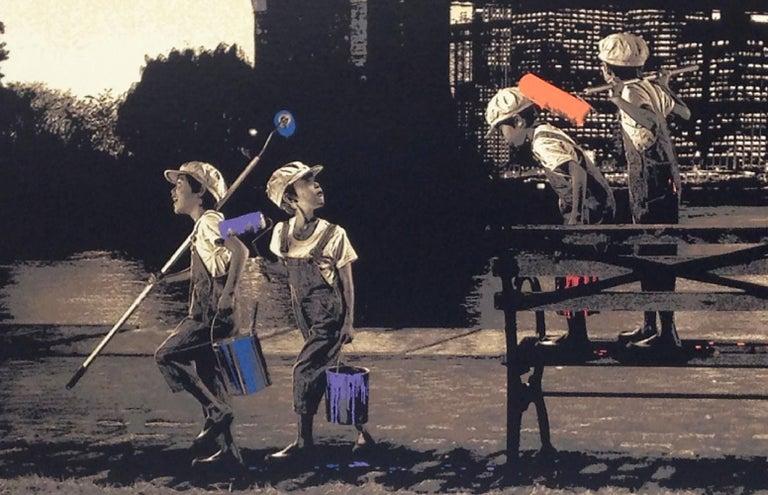 Roamcouch - Brooklyn Bridge - Urban Graffiti Street Art For Sale 2