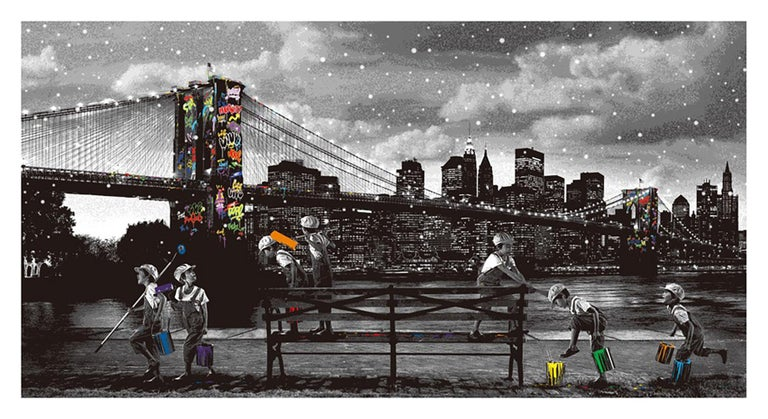 Roamcouch - Brooklyn Bridge - Urban Graffiti Street Art - Print by Roamcouch